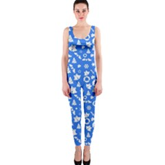 Xmas Pattern Onepiece Catsuit