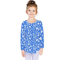 Xmas Pattern Kids  Long Sleeve Tee