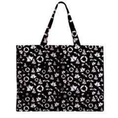 Xmas Pattern Zipper Mini Tote Bag