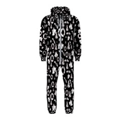 Xmas Pattern Hooded Jumpsuit (kids)