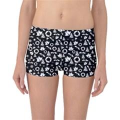 Xmas Pattern Boyleg Bikini Bottoms