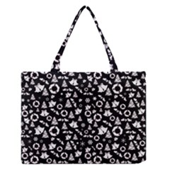 Xmas Pattern Zipper Medium Tote Bag