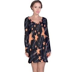 Guitar Star Rain Long Sleeve Nightdress