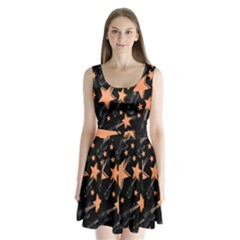 Guitar Star Rain Split Back Mini Dress