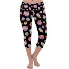 Sweet Pattern Capri Yoga Leggings