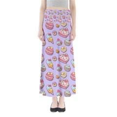 Sweet Pattern Full Length Maxi Skirt