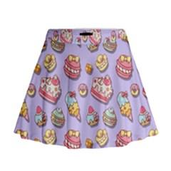 Sweet Pattern Mini Flare Skirt