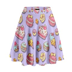 Sweet Pattern High Waist Skirt