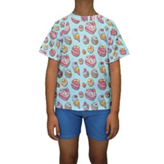 Sweet Pattern Kids  Short Sleeve Swimwear