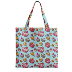 Sweet Pattern Zipper Grocery Tote Bag