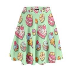 Sweet Pattern High Waist Skirt