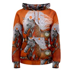 Steampunk, Wonderful Wild Steampunk Horse Women s Pullover Hoodie