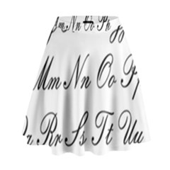 Alphabet Embassy Font High Waist Skirt