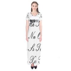 Alphabet Embassy Font Short Sleeve Maxi Dress