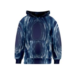 Worm Hole Line Space Blue Kids  Pullover Hoodie