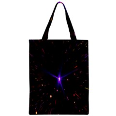 Animation Plasma Ball Going Hot Explode Bigbang Supernova Stars Shining Light Space Universe Zooming Zipper Classic Tote Bag