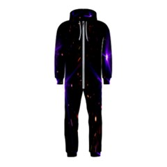 Animation Plasma Ball Going Hot Explode Bigbang Supernova Stars Shining Light Space Universe Zooming Hooded Jumpsuit (kids)