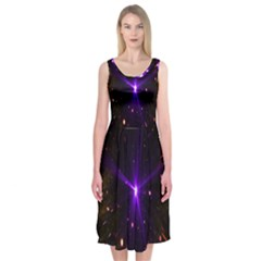 Animation Plasma Ball Going Hot Explode Bigbang Supernova Stars Shining Light Space Universe Zooming Midi Sleeveless Dress