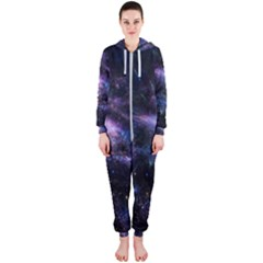 Animation Plasma Ball Going Hot Explode Bigbang Supernova Stars Shining Light Space Universe Zooming Hooded Jumpsuit (ladies)