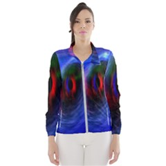 Black Hole Blue Space Galaxy Wind Breaker (women)