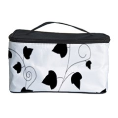 Black Leaf Cosmetic Storage Case