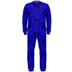 Unicorn Pattern Blue Onepiece Jumpsuit (men)
