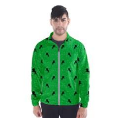 Unicorn Pattern Green Wind Breaker (men)