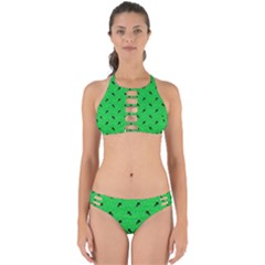 Unicorn Pattern Green Perfectly Cut Out Bikini Set