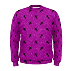Unicorn Pattern Pink Men s Sweatshirt