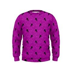 Unicorn Pattern Pink Kids  Sweatshirt