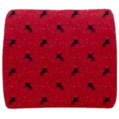 Unicorn Pattern Red Back Support Cushion