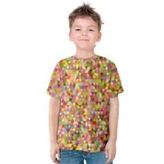 Multicolored Mixcolor Geometric Pattern Kids  Cotton Tee