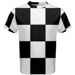 Grid Domino Bank And Black Men s Cotton Tee