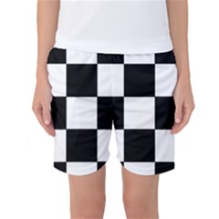 Grid Domino Bank And Black Women s Basketball Shorts