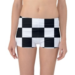Grid Domino Bank And Black Boyleg Bikini Bottoms