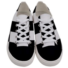 Grid Domino Bank And Black Women s Low Top Canvas Sneakers
