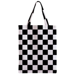 Grid Domino Bank And Black Classic Tote Bag