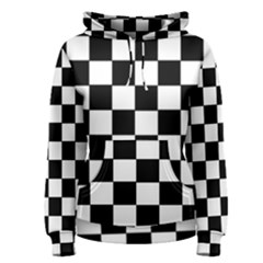 Grid Domino Bank And Black Women s Pullover Hoodie
