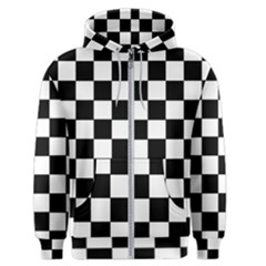 Grid Domino Bank And Black Men s Zipper Hoodie