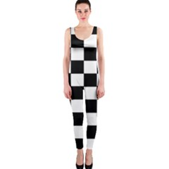 Grid Domino Bank And Black Onepiece Catsuit