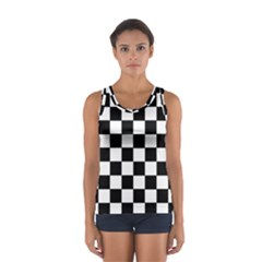 Grid Domino Bank And Black Sport Tank Top