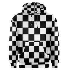 Grid Domino Bank And Black Men s Pullover Hoodie
