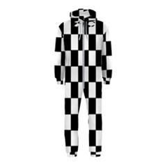 Grid Domino Bank And Black Hooded Jumpsuit (kids)
