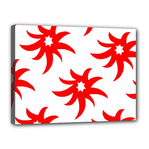 Star Figure Form Pattern Structure Canvas 16  X 12