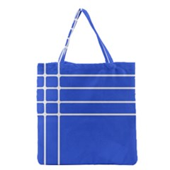 Stripes Pattern Template Texture Blue Grocery Tote Bag
