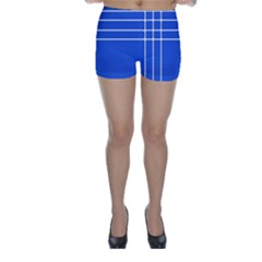 Stripes Pattern Template Texture Blue Skinny Shorts