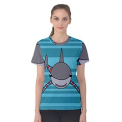Shark Sea Fish Animal Ocean Women s Cotton Tee