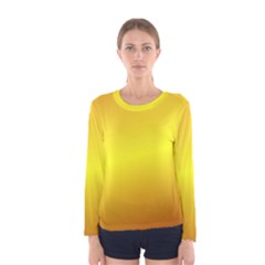 Gradient Orange Heat Women s Long Sleeve Tee