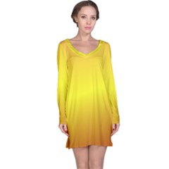 Gradient Orange Heat Long Sleeve Nightdress
