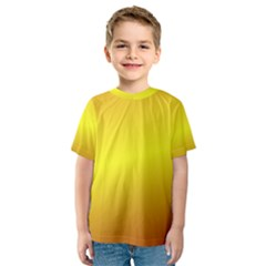 Gradient Orange Heat Kids  Sport Mesh Tee